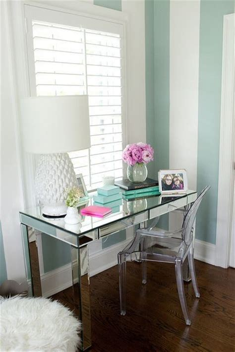 mirrored office desk mint and white bedroom walls bedroom idea decorations