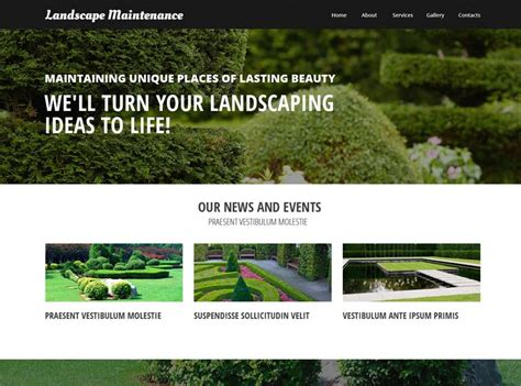 50 Best Gardening And Landscaping Website Templates Freshdesignweb Landscape Architecture Website Templates