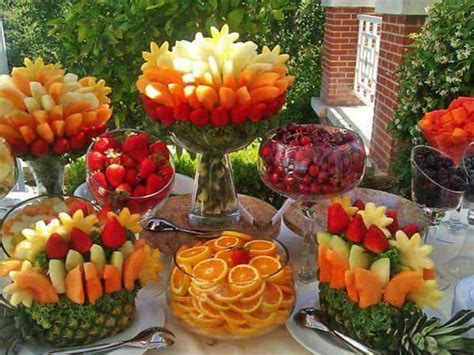Wedding Anniversary Brunch Ideas by Frutas Creativas Para Buffet O Mesa De Postres 20