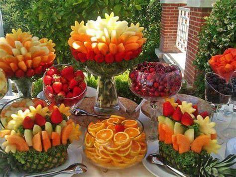 wedding anniversary brunch ideas frutas creativas para buffet o mesa de postres 20