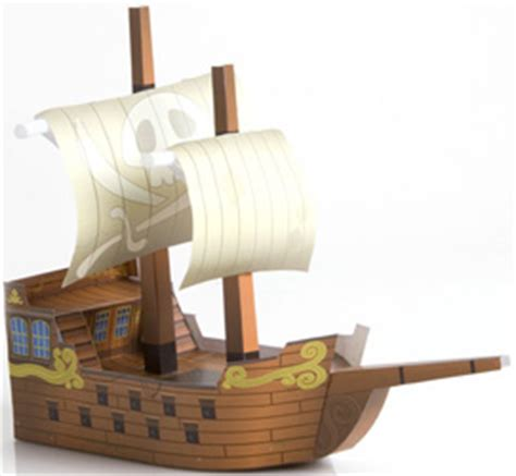 Papercraft Pirate Ship - zen boat page