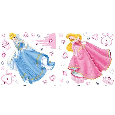 disney princess wall stickers large disney princess figure wall stickers new official ebay