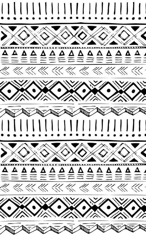 Tribal Line Pattern | native american hand drawn pattern print inspiration