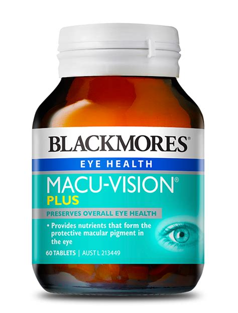 Blackmores Macuvision Macu Vision 125 Tabs blackmores macuvision plus blackmores