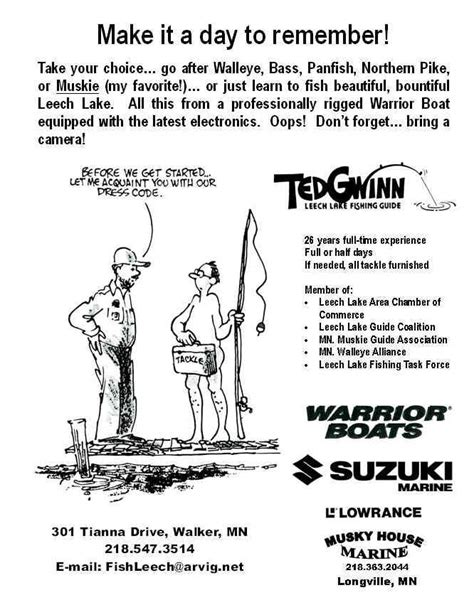 ted gwinn s leech lake guide service home page