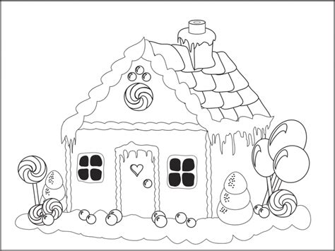 Free Printable Gingerbread House Coloring Pages gingerbread house coloring pages new calendar template site