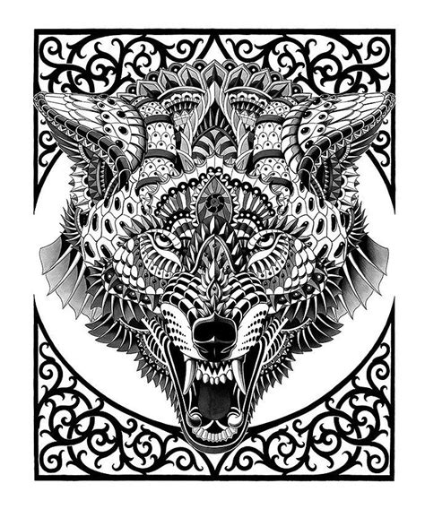 coloring pages for adults wolf 17 best images about 1 wolf coloring on pinterest dovers