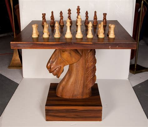 chess table with chairs american fantasy knight chess table at 1stdibs