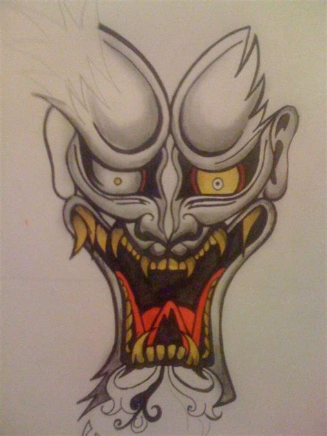 oni mask tattoo designs 25 best ideas about oni on japanese