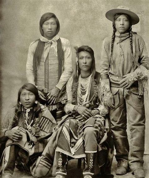 bannock tribe facts clothes food and history shoshone indian family in traditional dress taken in 1895