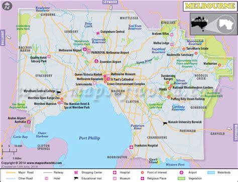 printable maps melbourne melbourne map tourist attractions travelquaz com