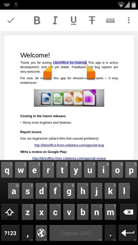 libreoffice mobile libreoffice dla android w fazie beta z mo蠑liwo蝗ci艱 edycji