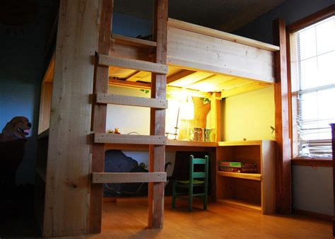 custom loft beds natural state treehouses inc loft bed desk