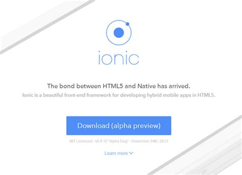 learning ionic build hybrid mobile applications with html5 arvind ionic advanced html5 hybrid mobile app framework