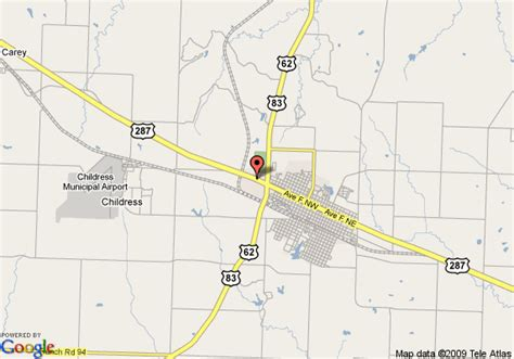 childress texas map map of childress days inn childress