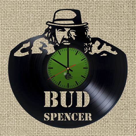 Wall Clock Handmade - bud spencer handmade vinyl record wall clock fan gift