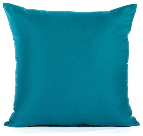 Throw Pillows Solid Sateen Turquoise Accent Throw Pillow Cover