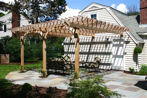 Attached Garage Designs Garage Pergola By Trellis Structures