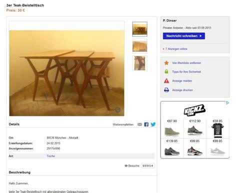 ebay kleinanzeigen beistelltisch satztische beistelltische nesting tables 3er teakholz