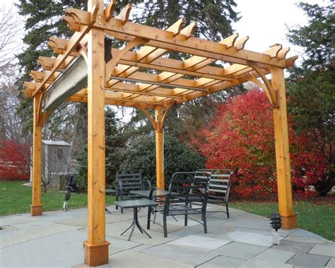 cedar pergola kit pergola kit 10x12 with retractable canopy traditional patio vancouver by outdoor living
