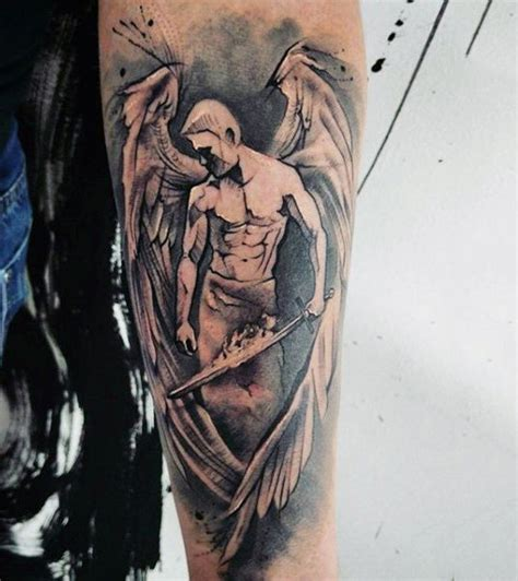 guardian angel tattoo for men 100 guardian tattoos for spiritual ink designs