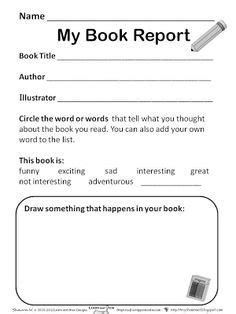 2nd Grade Book Report Template Google Search 2nd Grade Ela Ideas Pinterest Book 2nd Grade Book Report Template Pdf