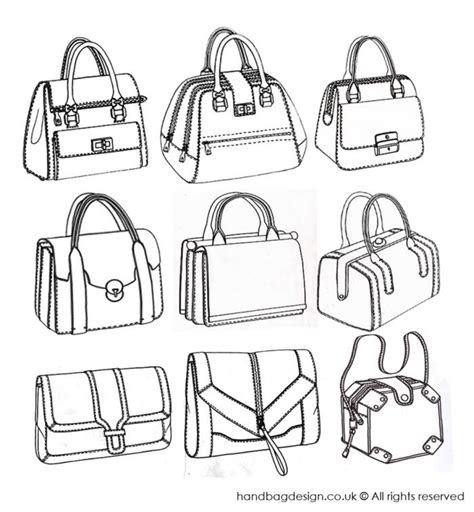 Sketches Bags by Structured Handbag Designs By Emily O Rourke Bags