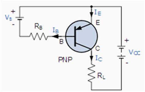 pnp transistor flow of current pnp transistor