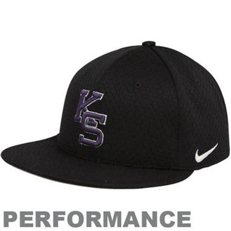 nike kansas state wildcats black authentic baseball mesh
