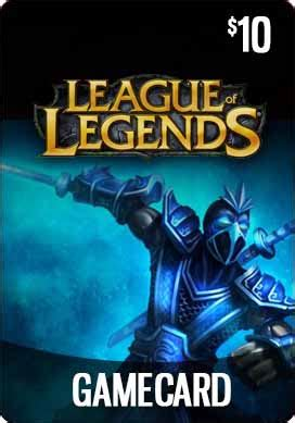 League Of Legends Gift Cards - league of legends 10 pre paid game card delivered online
