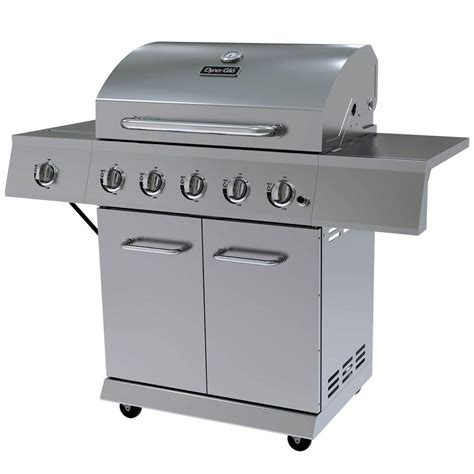 home depot grills dyna glo 5 burner lp propane gas grill in stainless steel