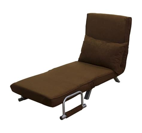 Fold Out Chair Bed by Single Bed Fold Out Chair With Pillow Aosom Ca