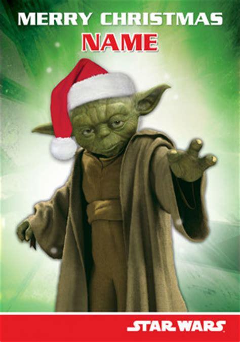 wwwfunkypigeoncom personalised card star wars yoda christmas