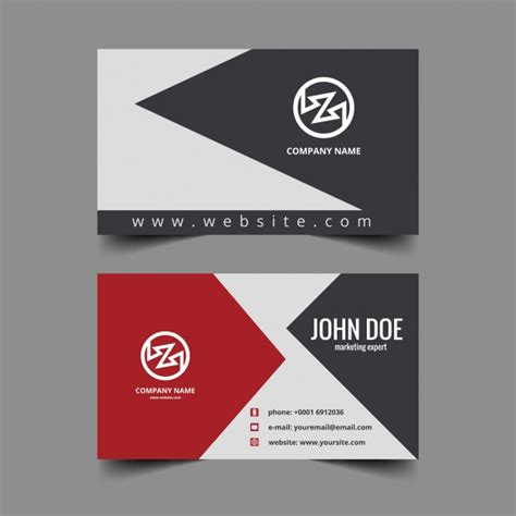design free visiting card clean visiting card design vector free download