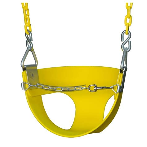 half bucket swing gorilla playsets half bucket swing with chain in yellow 04