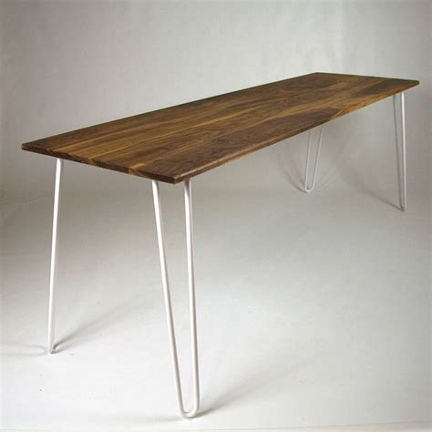 hairpin legs table dining table with industrial hairpin legs in walnut by
