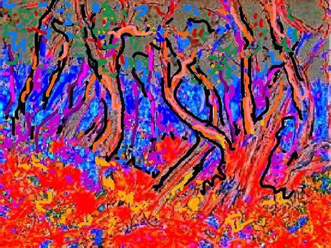 Wst 9906 Forest Print quot fauve landscape quot by richard tuvey redbubble