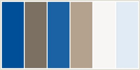 colors that go with brown colorcombo237 with hex colors 005099 7c7062 1a62a3