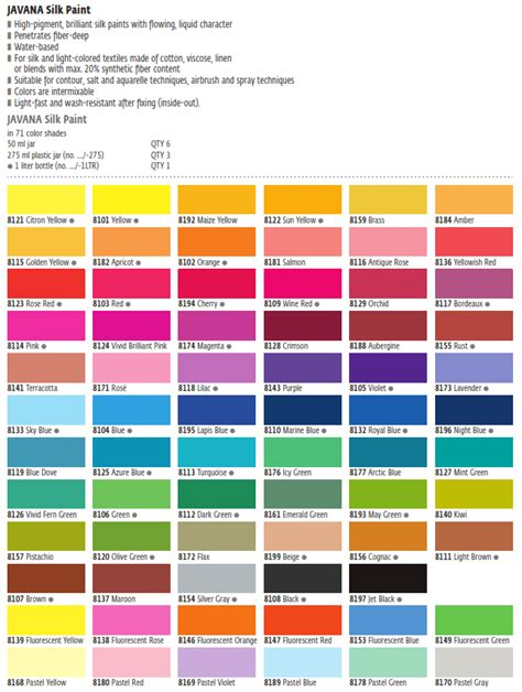 kreul javana silk paint textile and silk paints colors for creatives products