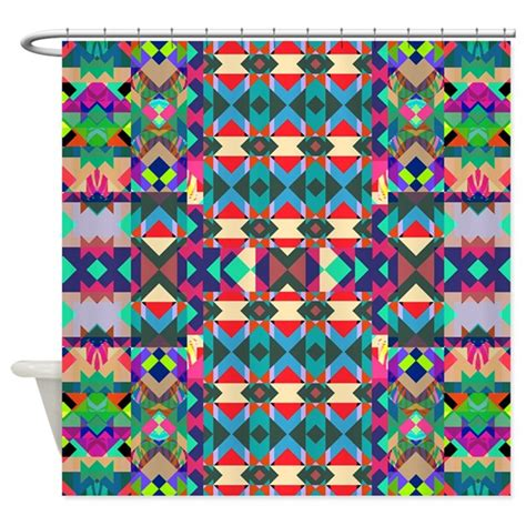 aztec shower curtain mix 271 colourful aztec shower curtain by ornaartzi