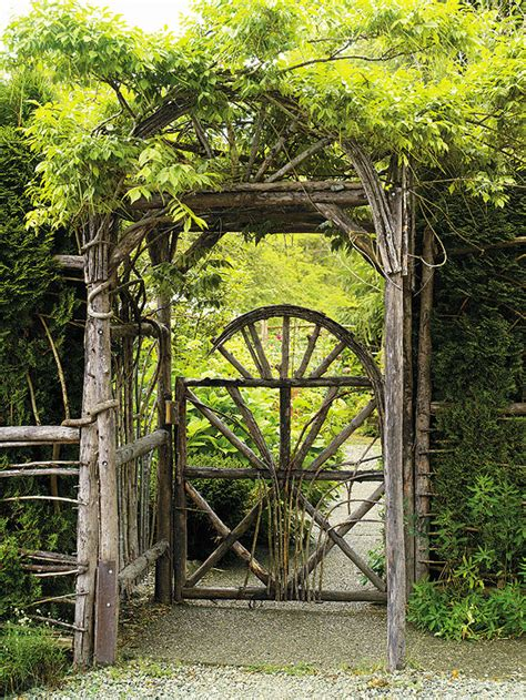 backyard gate garden gates make a grand entrance