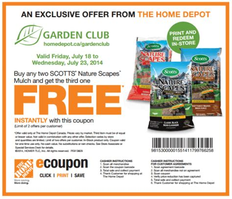 Backyard X Scapes Coupon Home Depot Canada Printable Coupon Buy 2 Scotts Nature
