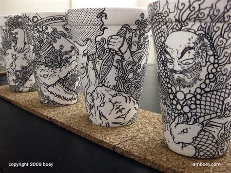 creative examples  paper cup designs jayce  yesta