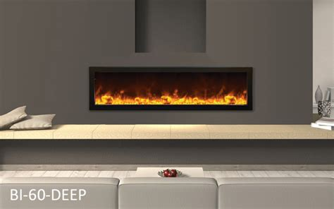 60 in electric fireplace amantii bi 60 frame viewing electric