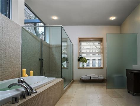 modern bathrooms with spa like appeal smart new york city townhouse renovation breezy modern design