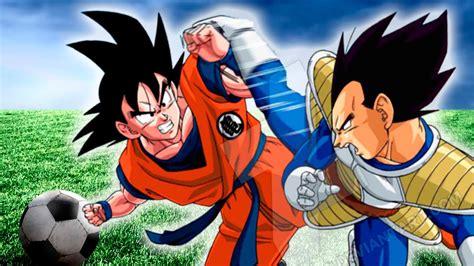 Imagenes De Goku Jugando Futbol | goku vs vegeta f 218 tbol dragon ball super capitulo 1 en