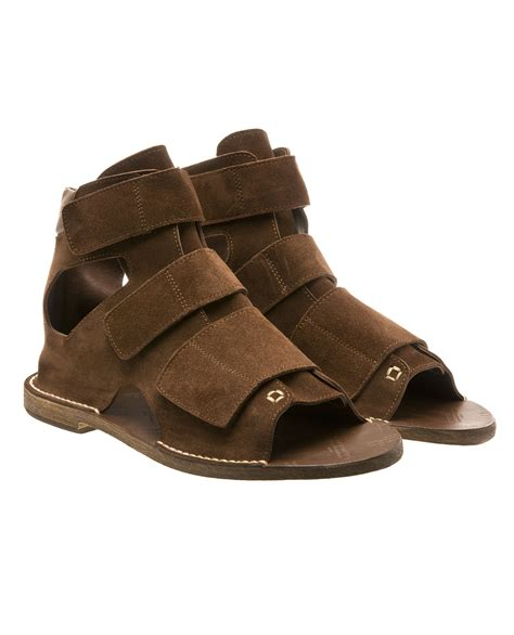 brown suede sandals maison margiela suede gladiator sandals in brown for