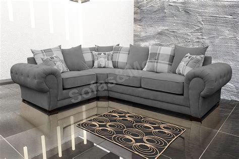 Corner Sectional Sofas by Chesterfield Corner Sofa Suite Verona Grey Velour Fabric 3