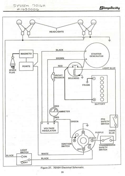 simplicity tractor wiring diagram 1692593 simplicity mower