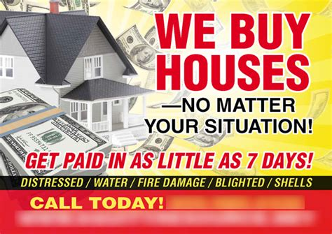 We Buy Houses Business Card Templates by We Buy Houses Postcard Template Washington D C Real